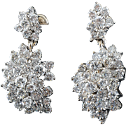 5.25 Carat Total Weight Diamond Drop Earrings