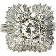 2.90 CTW Diamond Ballerina Ring