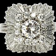 2.90 CTW Diamond Ballerina Ring
