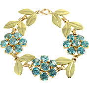 41.55 CTW Blue Zircon Bracelet by Wordley, Allsop & Bliss