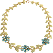 25.95 CTW Blue Zircon Necklace by Wordley, Allsop & Bliss