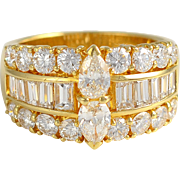 18K Yellow Gold 3.06 CTW Diamond Ring
