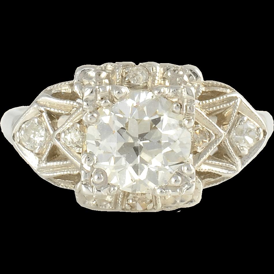 1.40 Carat Center Diamond Engagement Ring
