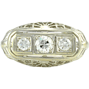 American Filigree Diamond Ring