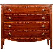 Cherrywood and Mahogany Federal Chest of Drawers
