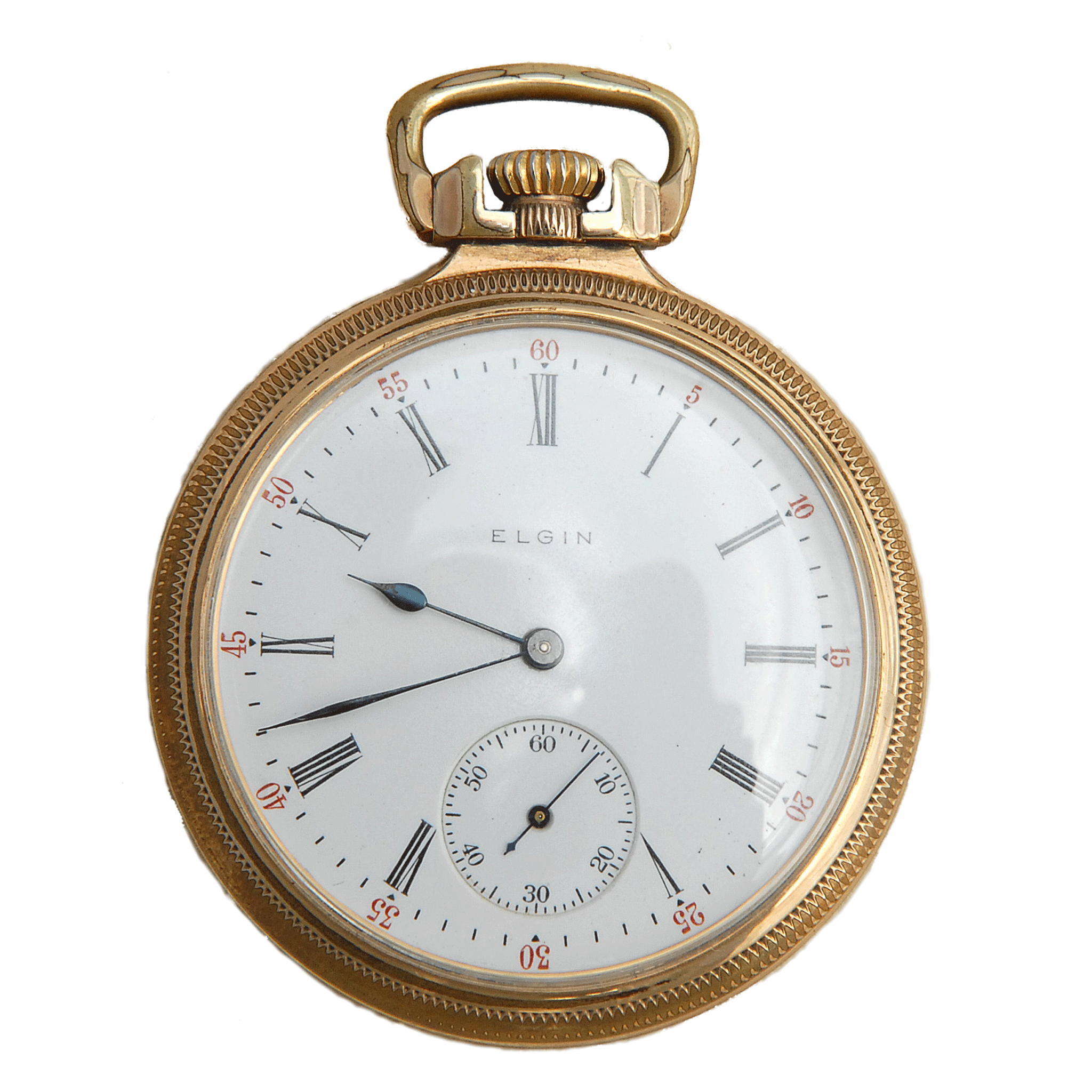 Open Face Pocket Watch by Elgin National Watch Co