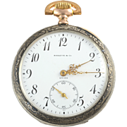 Swiss Sterling Silver Pocket Watch Signed Shreve & Co