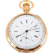 Rare Swiss 14K Gold Chronograph by Jules Emmery