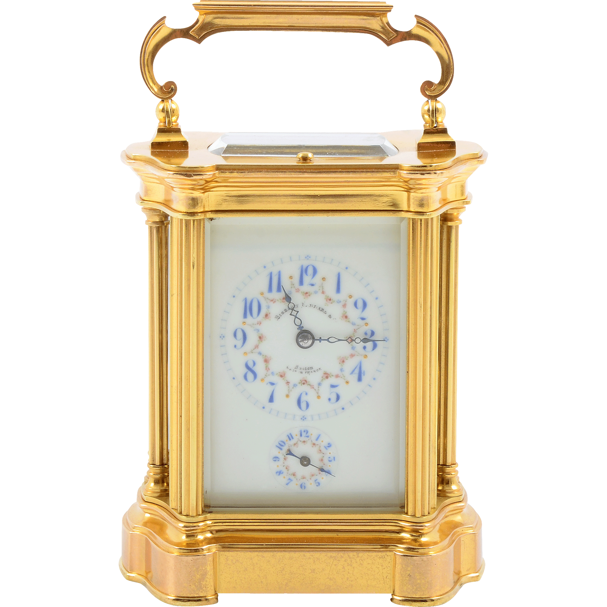 French Carriage Clock Signed Bigelow Kennard & Co of Boston