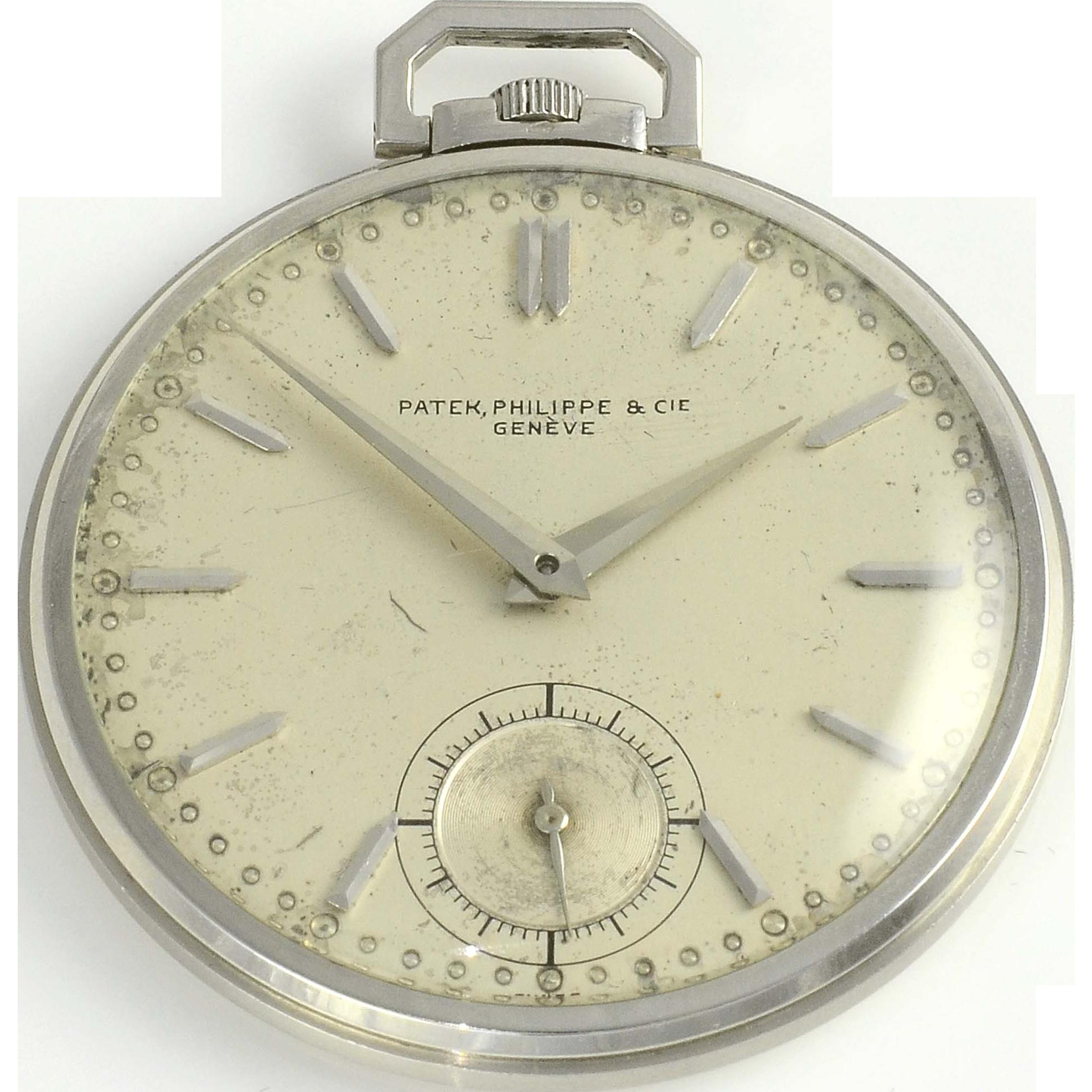 Swiss Mens Platinum Pocket Watch by Patek Philippe