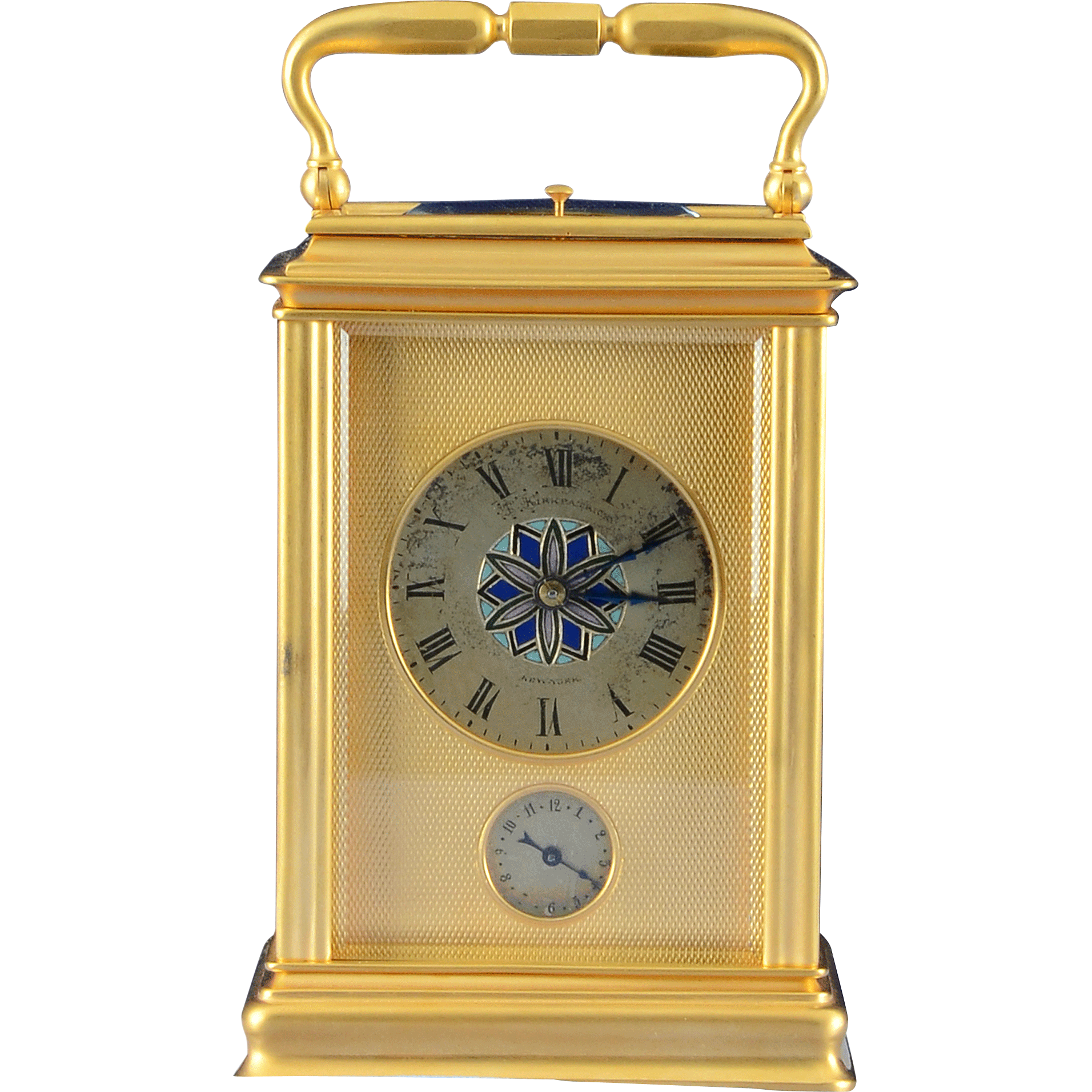 French Carriage Clock Signed T Kirkpatrick
