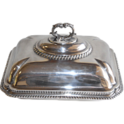 George III Sterling Covered Entree Dish by Robert Garrard