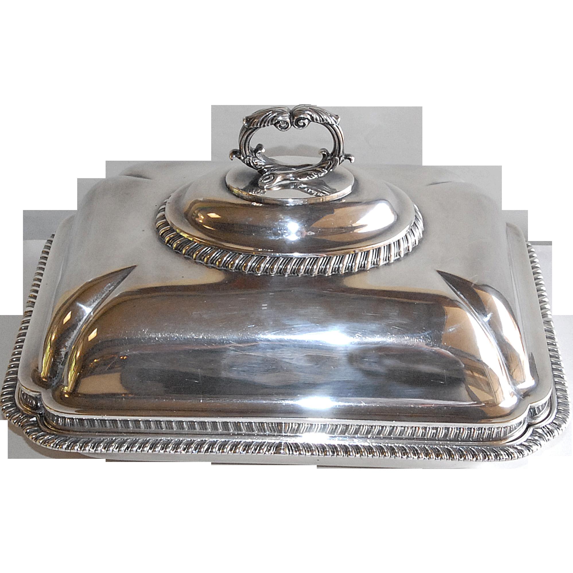 George III Sterling Covered Entree Dish by Robert Garrard