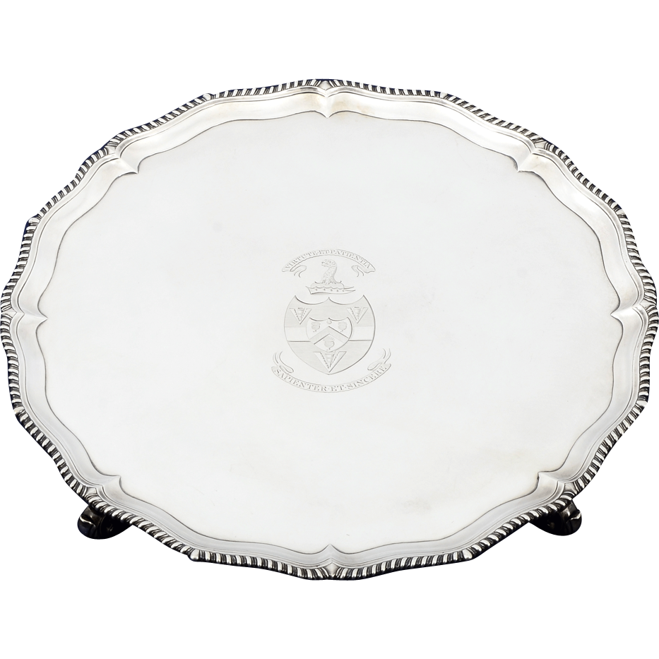 English George III Sterling Salver by Richard Rugg