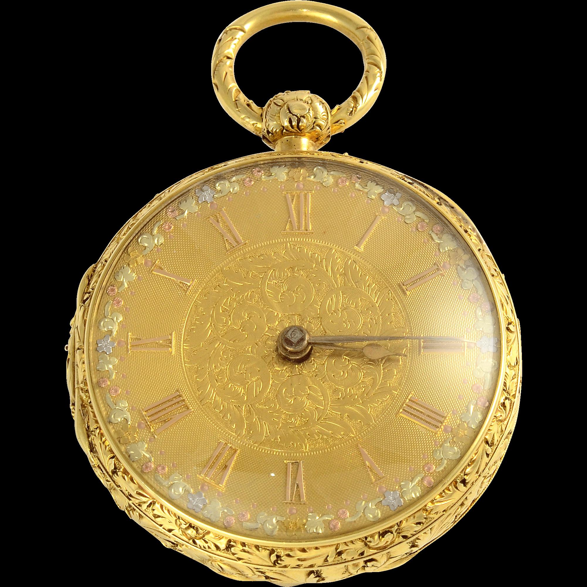 English 18K Pocket Watch by Joseph Johnson