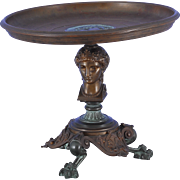 French Bronze Tazzo in Greek Revival Form