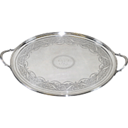George III Sterling Serving Tray by Crispin Fuller