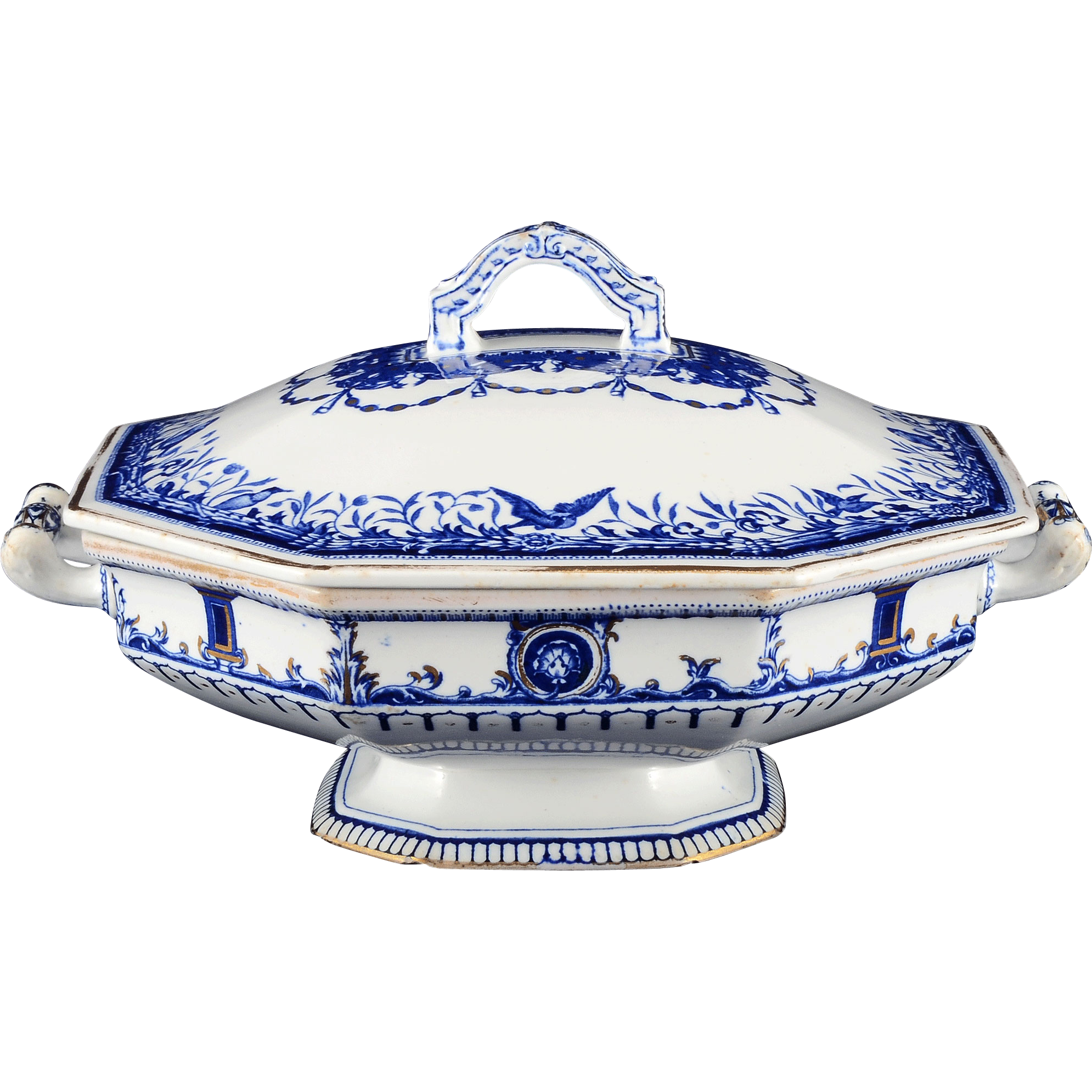 English Leopold Soup Tureen by Royal Crown Derby