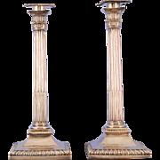 George III Pair of Sterling Silver Candlesticks