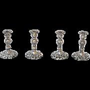 Set of Four George IV Sterling Candlesticks