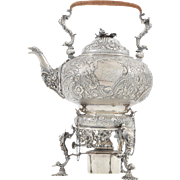 English Sterling Kettle by Alice and George Burrows