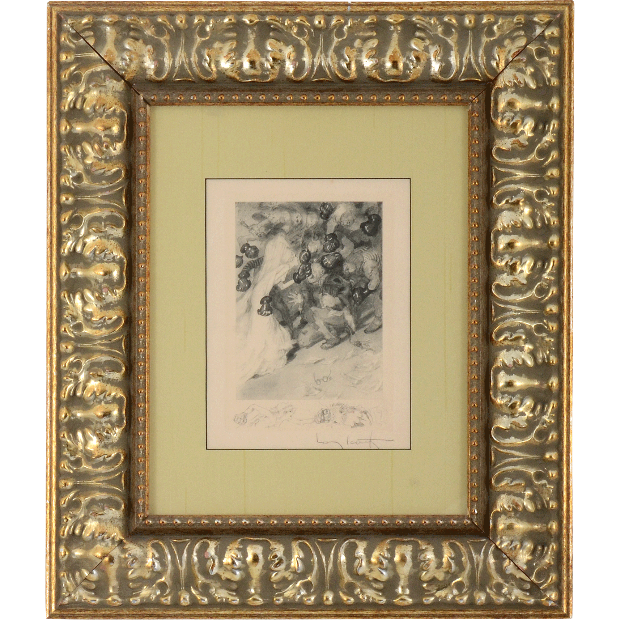 Etching in Gilded Frame by Louis Icart