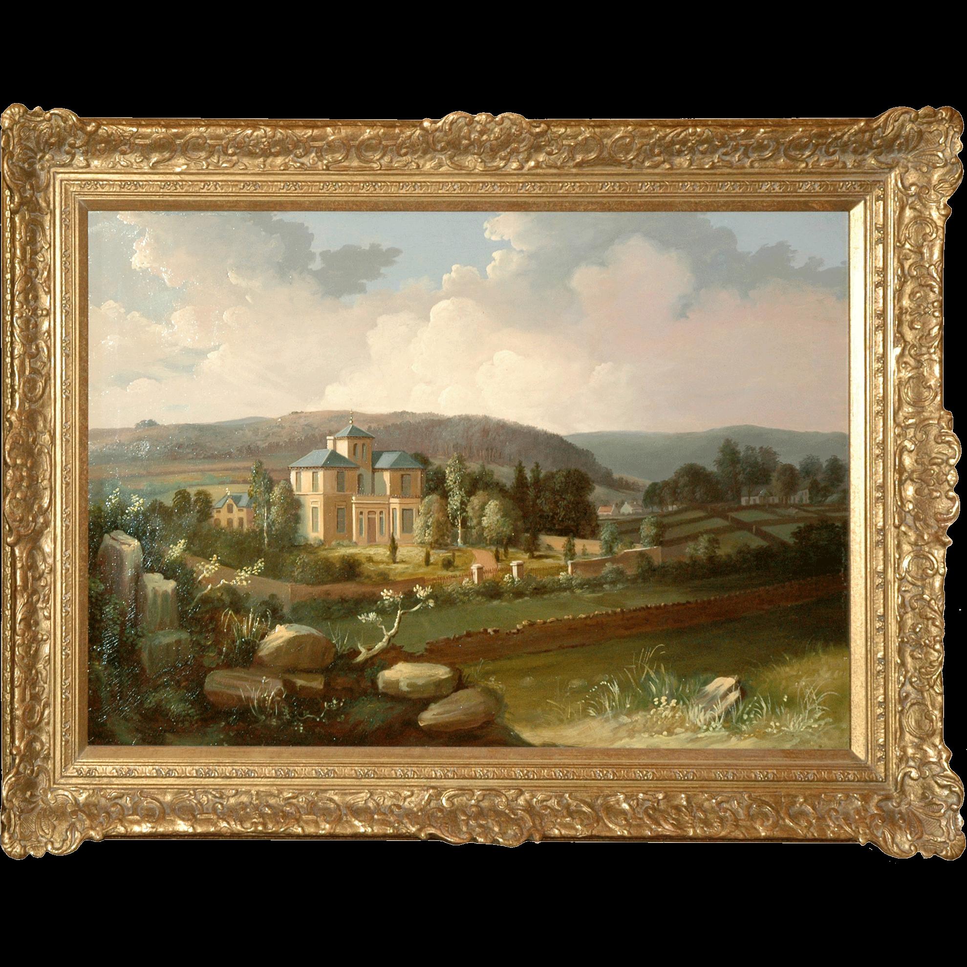 Oil On Canvas of Landscape by J A Morison