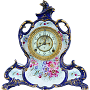 "American Porcelain Ansonia Mantel Clock ""La Vendee"" Model"