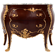 French Louis XV Marble Top Commode