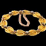 Diamond and Ruby Interlocking Link Bracelet