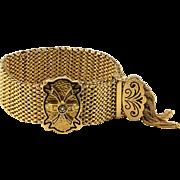 Victorian Enamel and Pearl Slide Bracelet