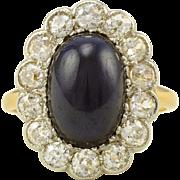 18K and Platinum 6.75 Carat Sapphire and Diamond Ring