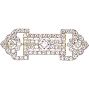 Art Deco 4.87 CTW Diamond Platinum Brooch