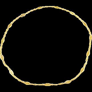 Art Deco Filigree Chain