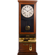 American Oak Time Recorder