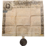 English George III Document with Wax Seal