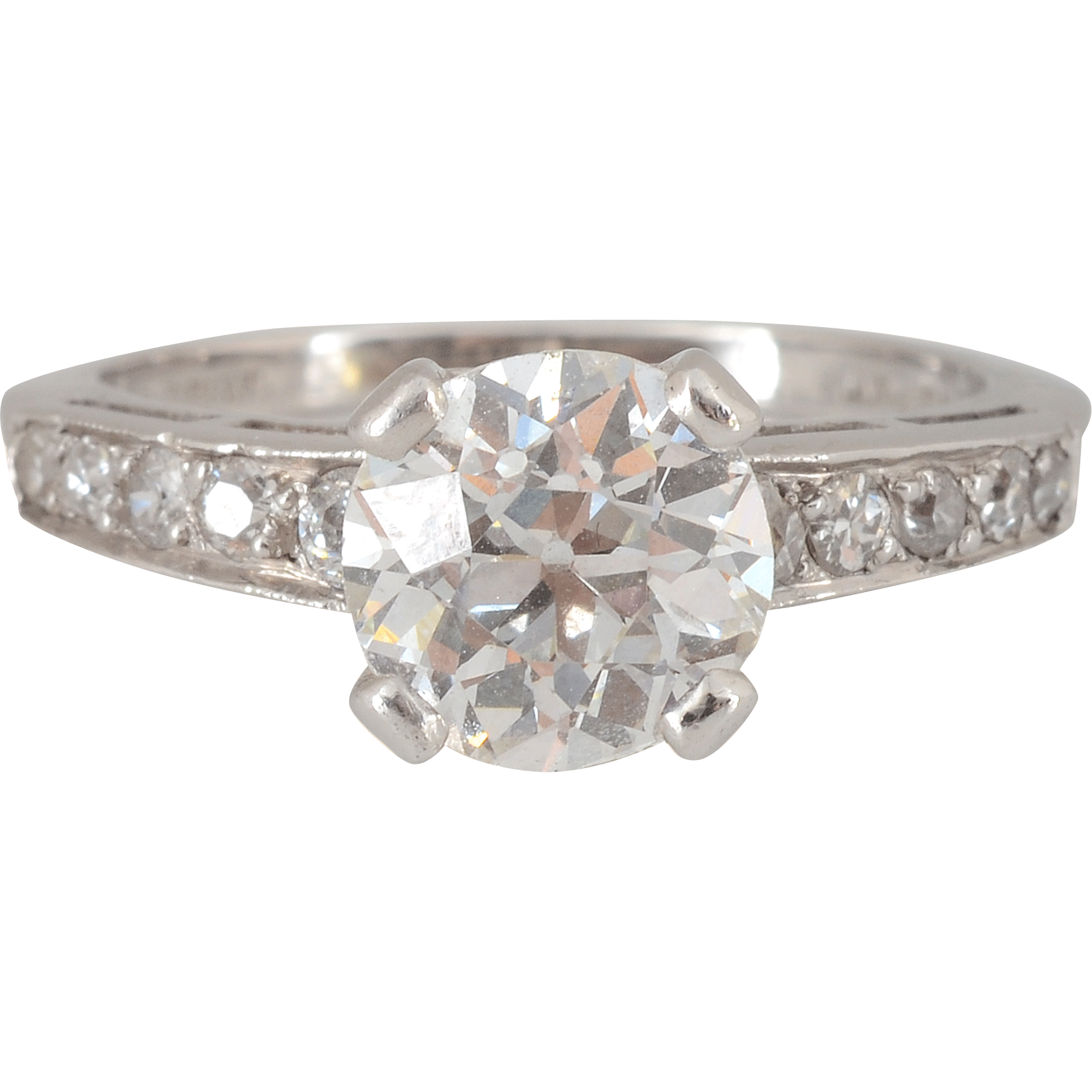 1.69 Carat Center Diamond Engagement Ring