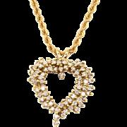 0.99 CTW Diamond Heart Pendant on Chain