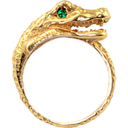 Tsavorite Garnet Alligator Ring