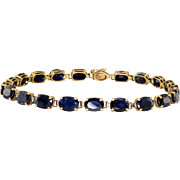 17.06 CTW Oval Sapphire Bracelet