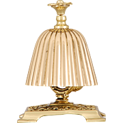 English Hotel Bell Tap Top in Cast Brass and Bronze