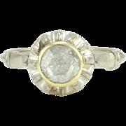 English 0.62 Carat Rose Cut Diamond Ring