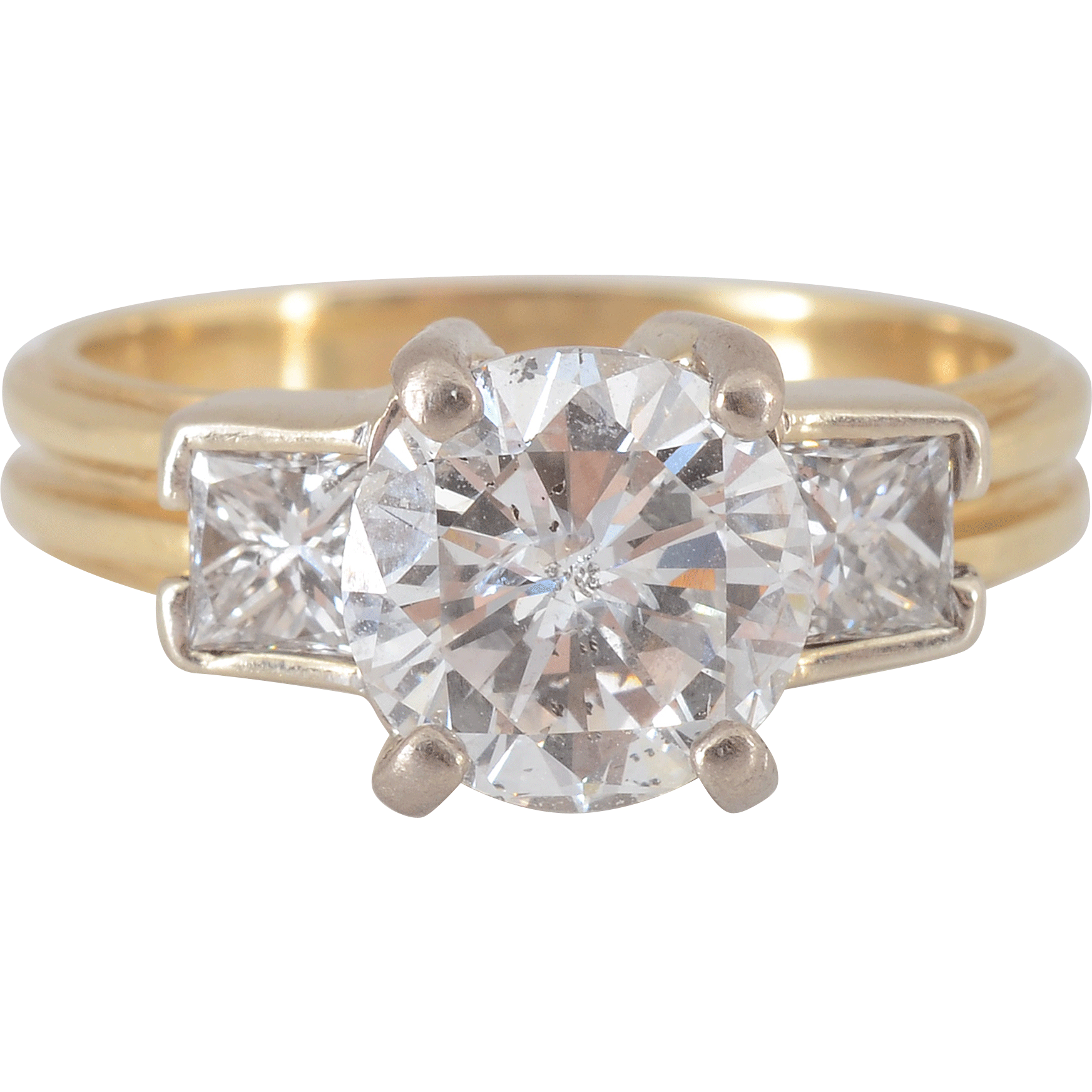 2.04 Carat Center Diamond Engagement Ring