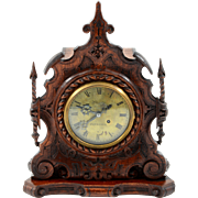 English Fusee Mantel Clock by Edward Thomas Loseby