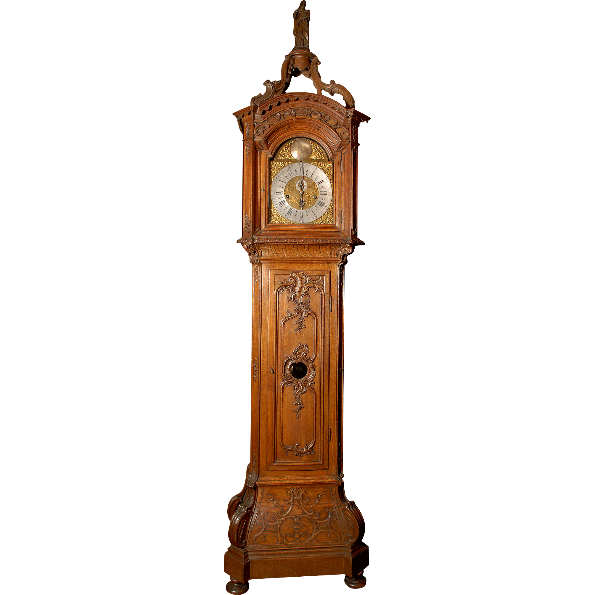 French Louis XV Paul Conrad Musical Clock