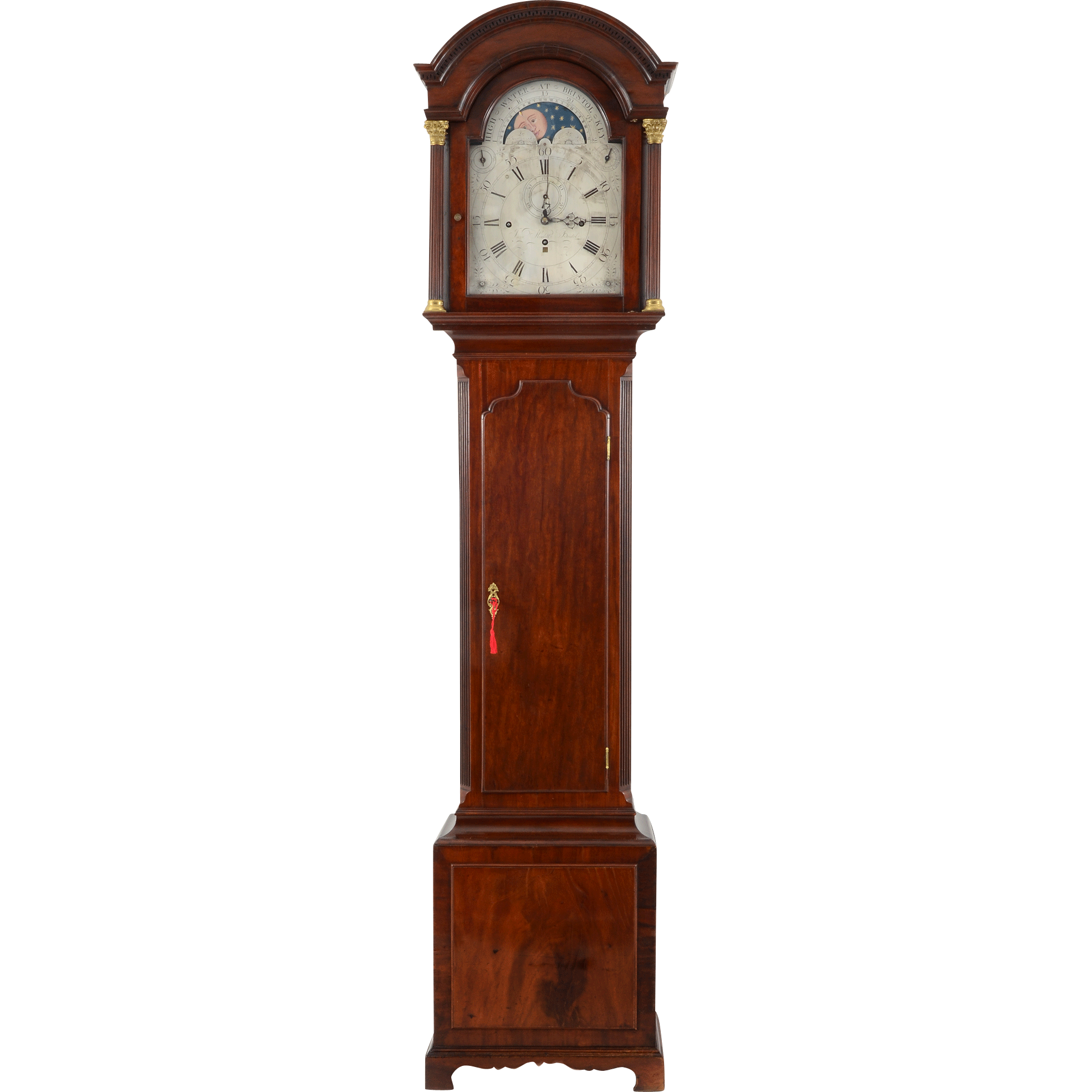 English Seven Tune Function Long Case Clock by Isaac Hewlett