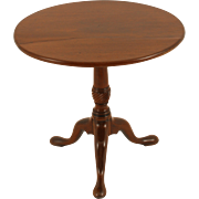 English Walnut Tripod Leg Table with Tilt Top
