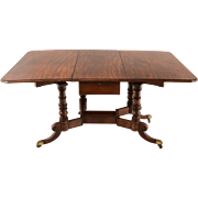 English Drop Leaf Table in Mahogany