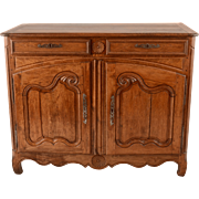 French Oak Server with Pinwheel Carvings