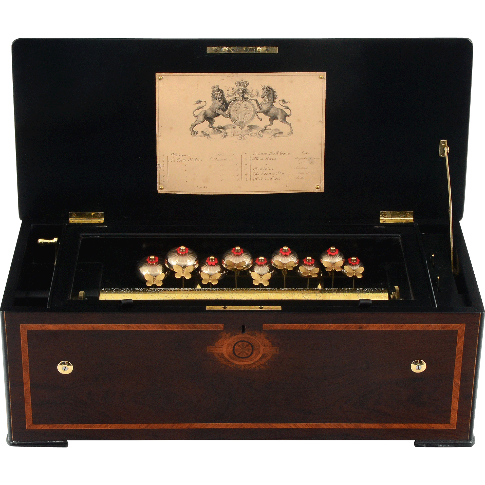 Swiss Cylinder Music Box by George Bendon of St Croix